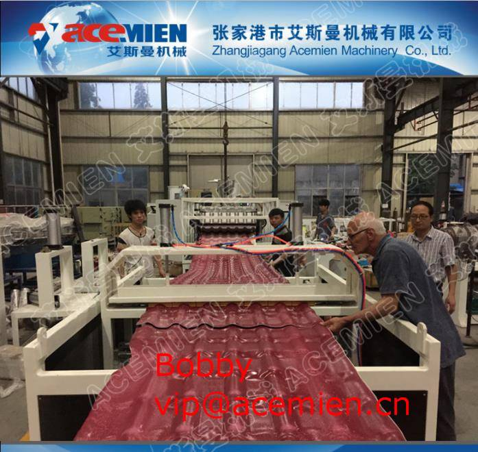 pvc antique roof sheet Roll Forming machine