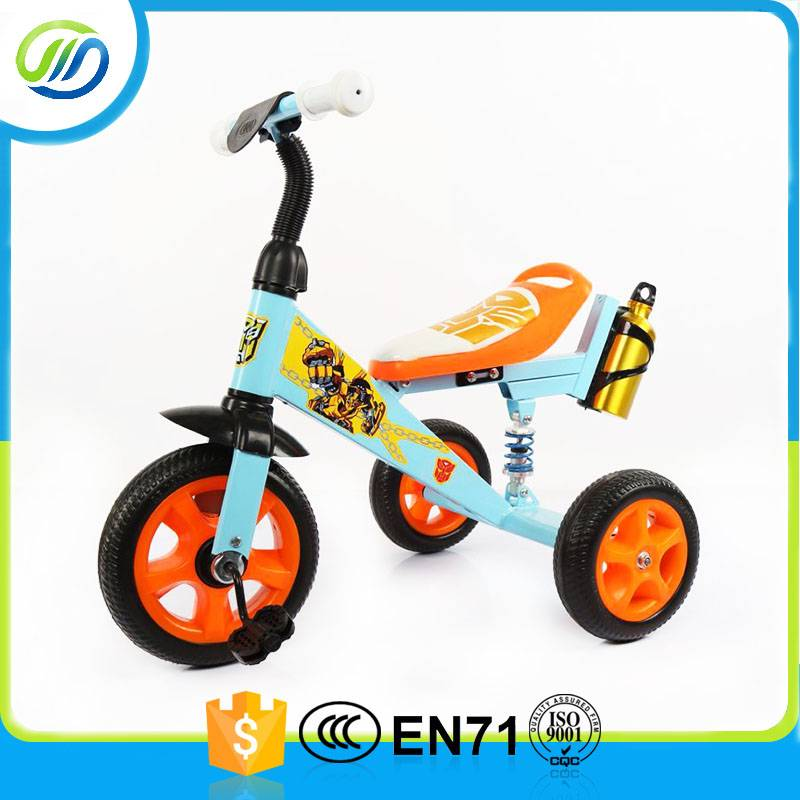 Metal child tricycle with bottle