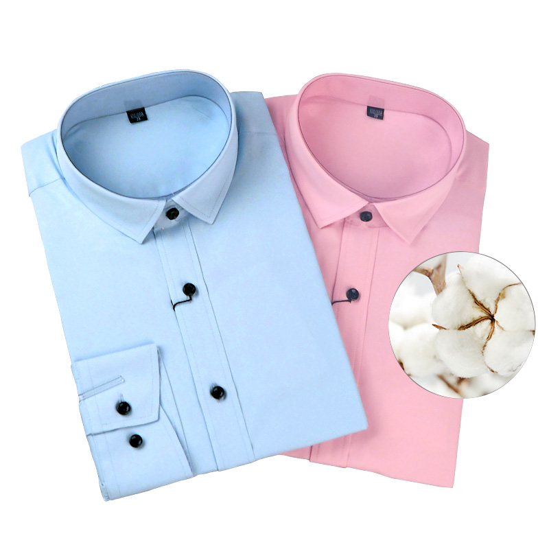 Men Long Sleeve Dress Work Shirts