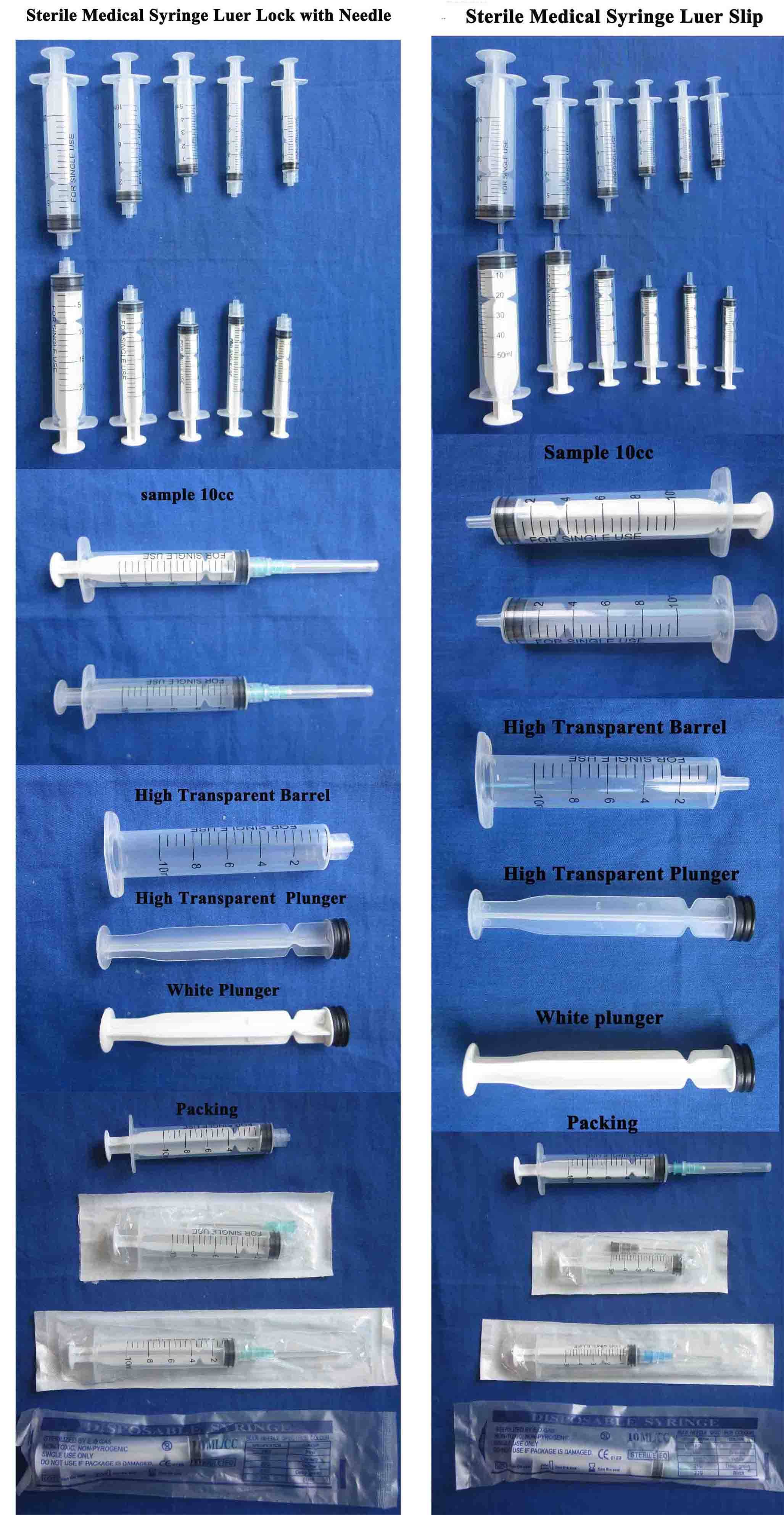 Medical Disposable Syringe with CE ISO
