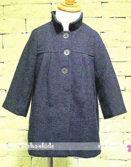 Simple style girls overcoat