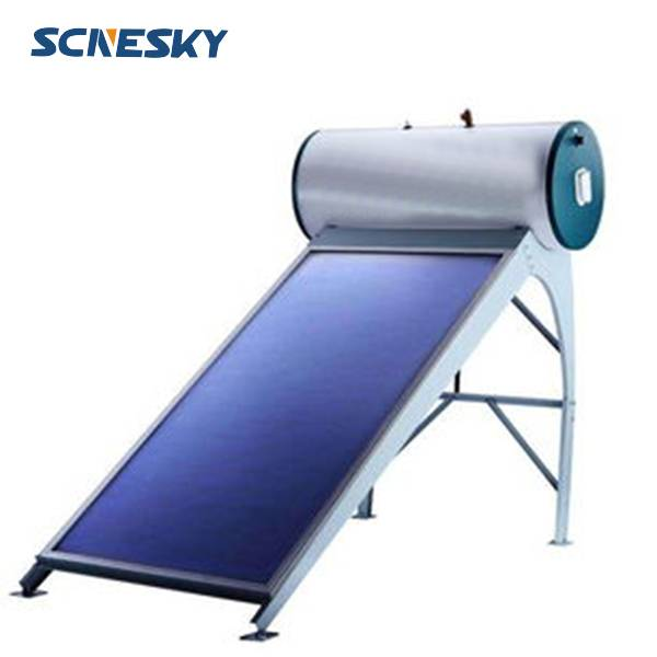 100L capacity Top sale fashionable compact pressurized flat plate solar water heater for overseas ma