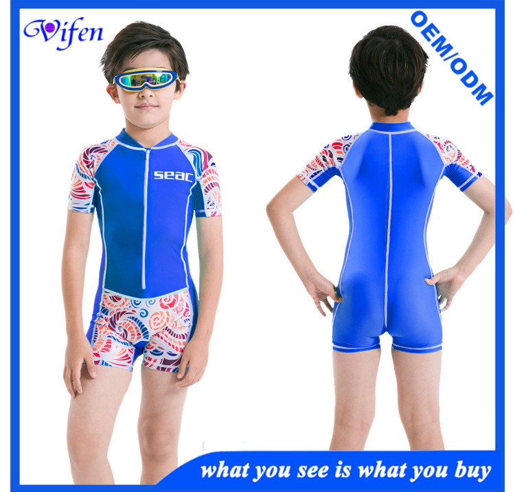 Kids lycra suit shorty swm suit for boy and girl UPF50+ rashguard