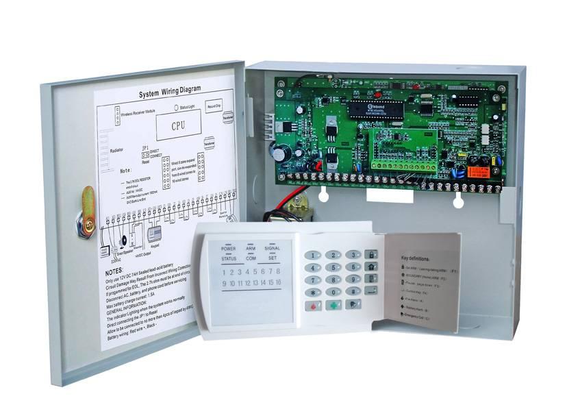 16 wireless/wired zone PSTN alarm system