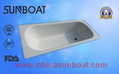home appliance built-in type enamel bathtub