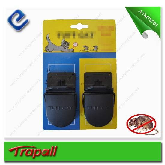 2pcs black automatic plastic mouse traps ATMT8703