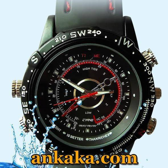 Waterproof 2.0MP 30fps High Definition 1280x960 Spy Fashion Watch Digital Video Recorder with Hidden