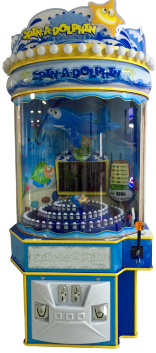 Spin A Dolphin Redemption Machine Indoor Coin Operated Games Amusement Machine