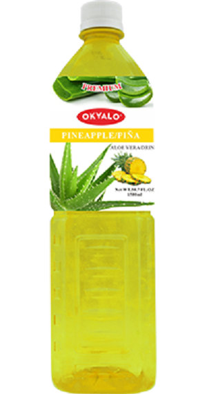 Pineapple Aloe Vera Juice with Pulp Okeyfood in 1.5L Bottle