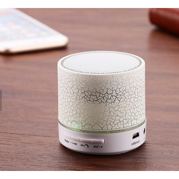 Portable Mini coloful led Bluetooth Speaker With Light pulse For mobile and computer Speaker With fm