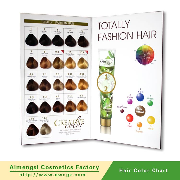 Hair color chart for salon