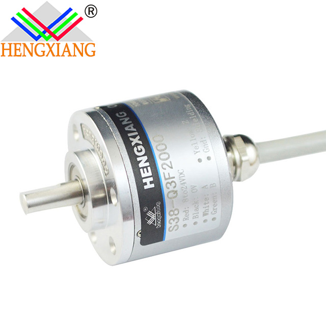 Hengxiang S38 Series Optical Encoder With Diameter 38mm Solid Shaft 6mm Revolution Up To 16384ppr