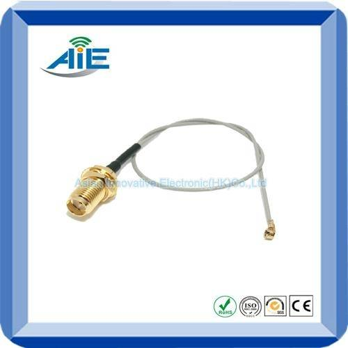 RF jumper cable assembly with SMA connector and UF.L connector