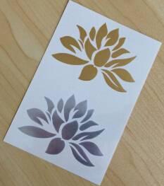 Fashionable Lotus Metallic Body Tattoo Sticker