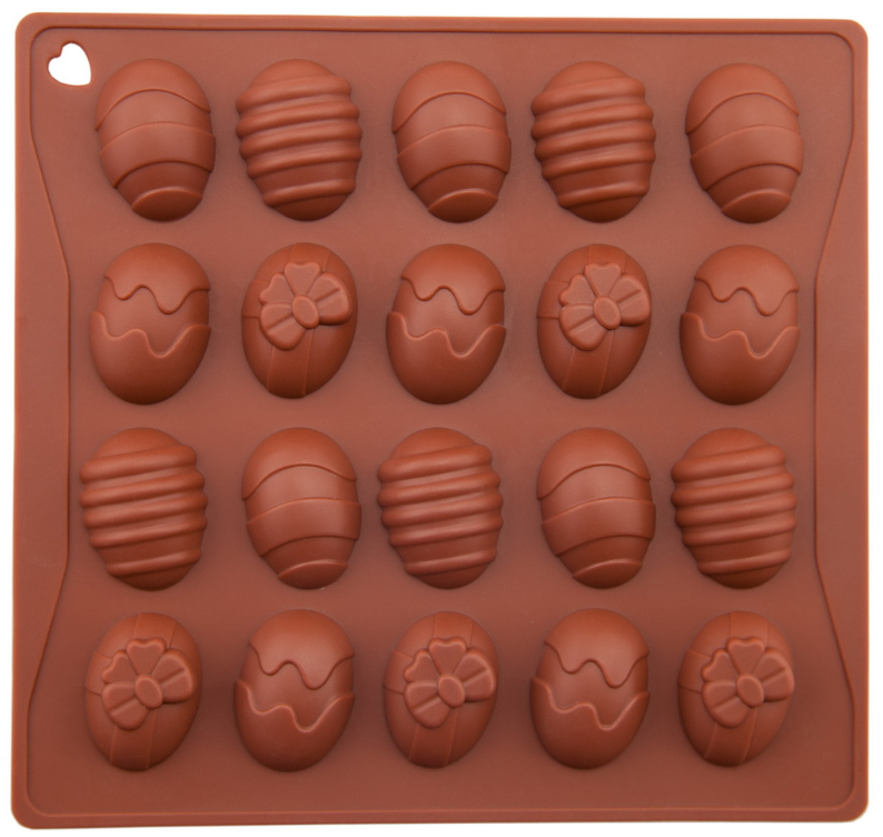 Silicone Chocolate Mold Color Egg 20 Cavities