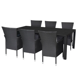Outdoor furniture polywood dining table stacking PE rattan chair