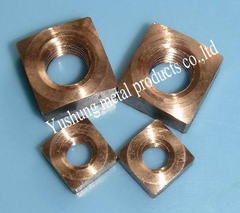 Silicon bronze square nuts