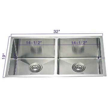Stainless Steel Modern House Double Bowl Sink