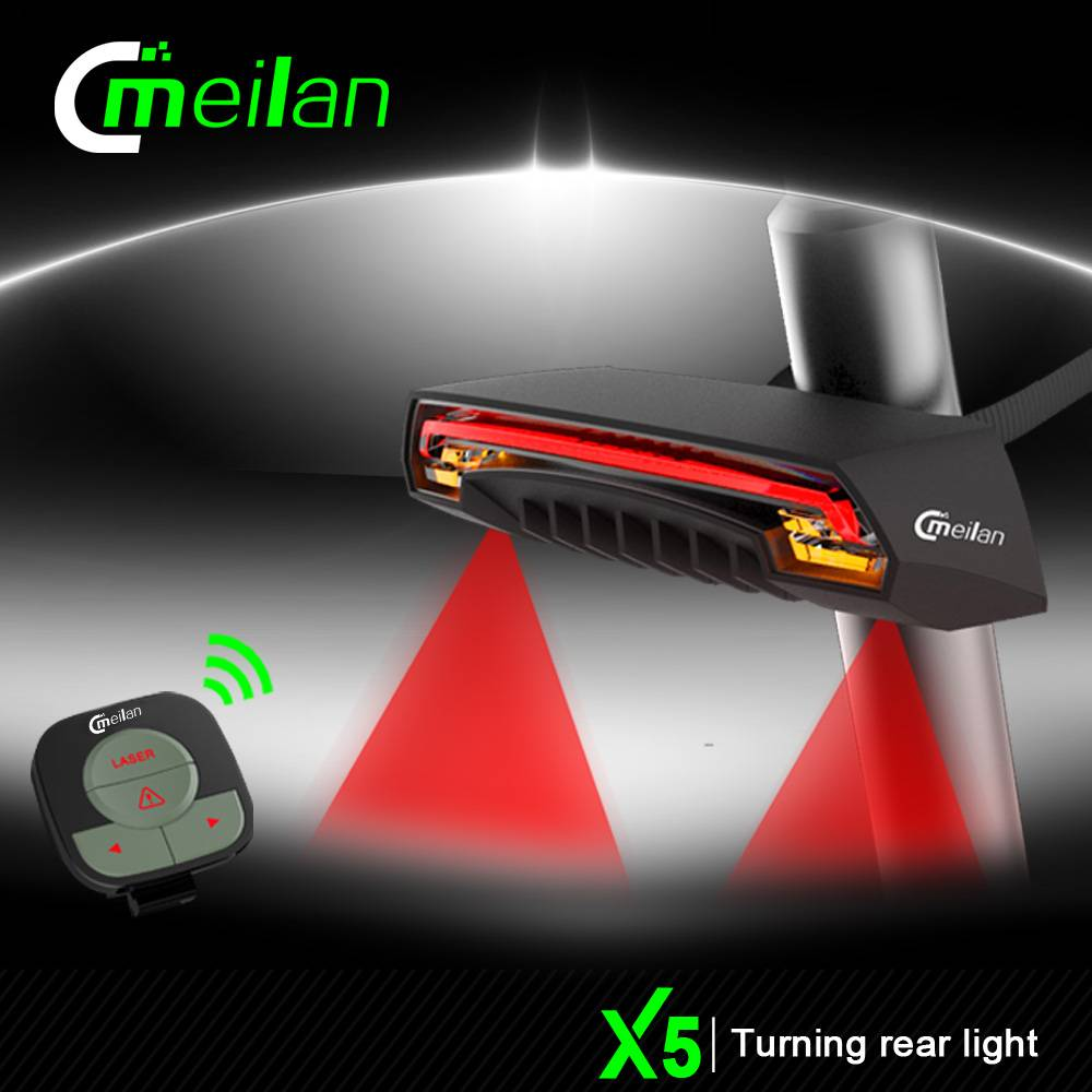 Meilan X5 Bike Lamp Turn Signal Brake LED Rear Light Wireless Tail Lights