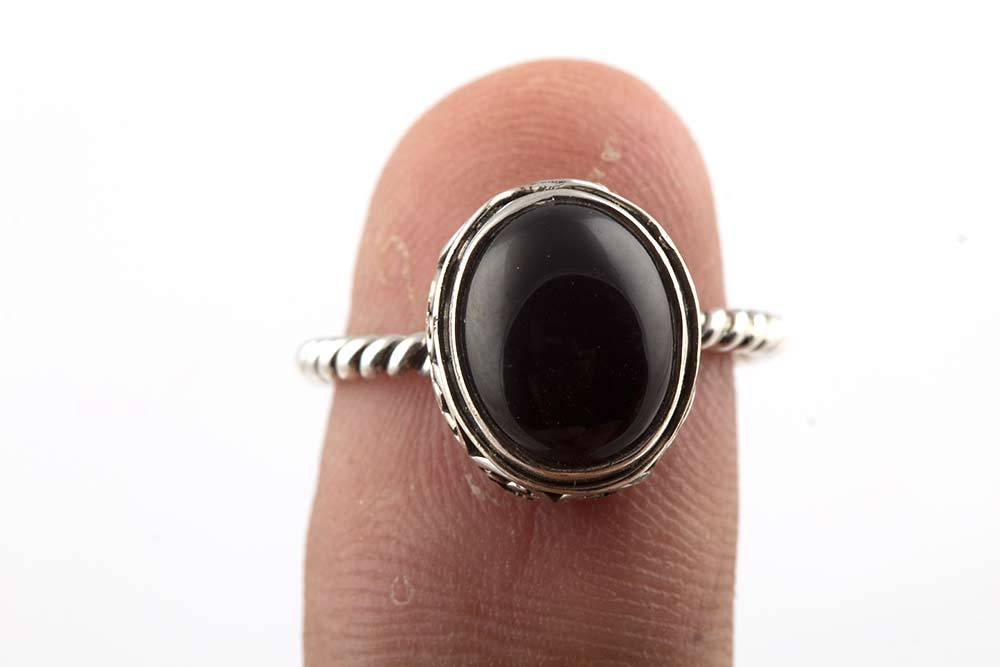 92.5 sterling silver Black Onyx Ring