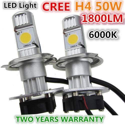 1800LM H4 50W CREE LED HeadLight Car Truck Head lamp Beam auto bulb motocycle&bike use