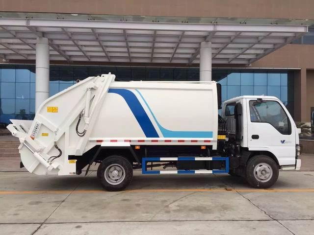 Rear Loader Garbage Compactor Truck