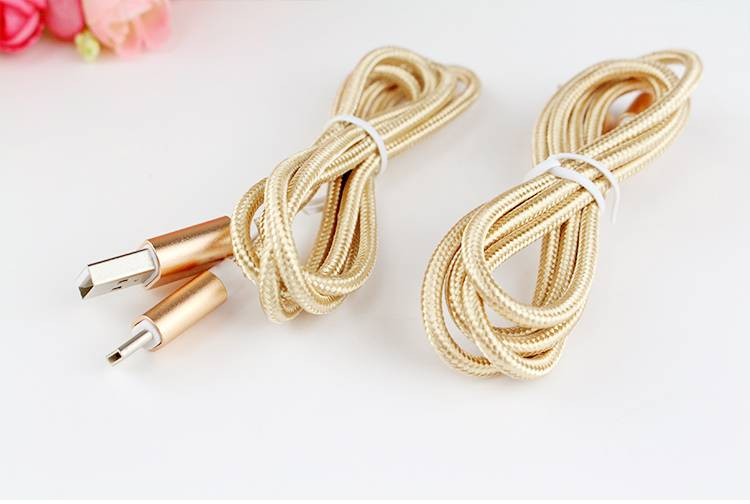 Type-C Nylon braided usb cable with charging and data transfer function