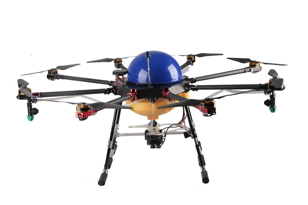 Drone 8 Axis 5KG Agricultural Spraying Machine carbon fiber UAV