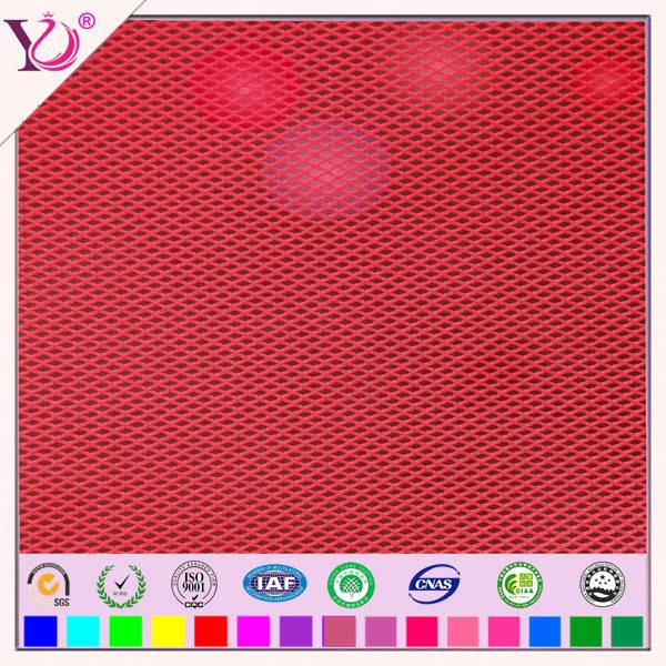 Fluorescence polyester mesh fabric for safety vest