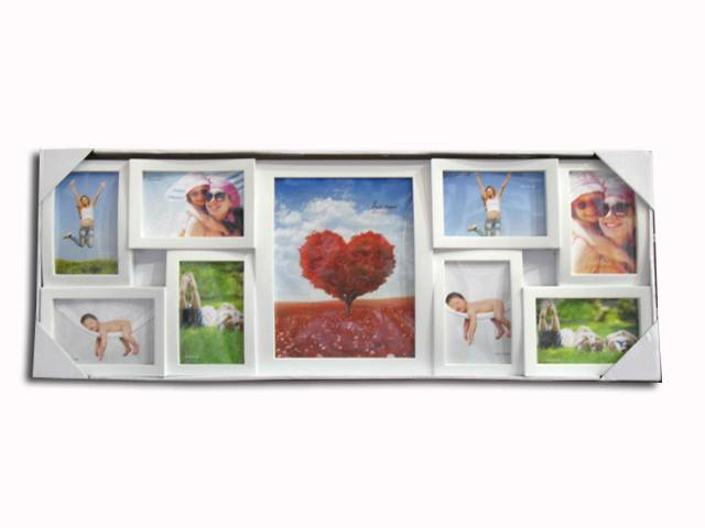 plastic photo frame/picture frame 9pcs