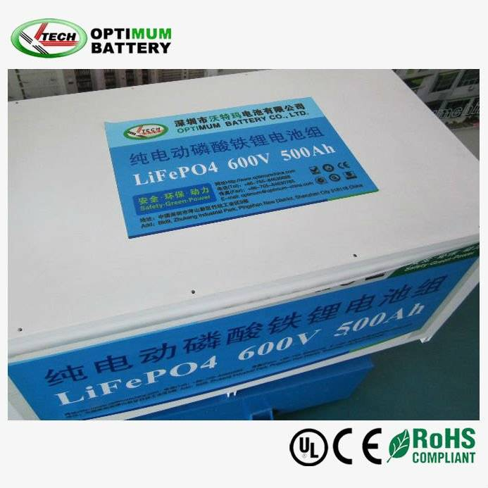 600V 500AH LIFEPO4 EV battery