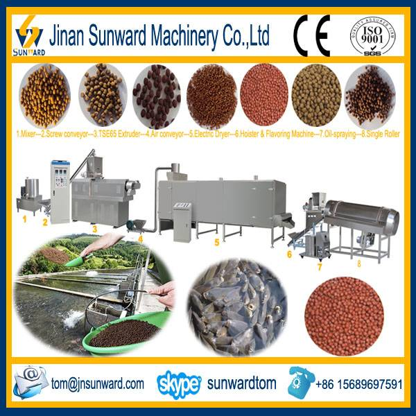 Double Screws Fish Feed Pellet Extruder Machine