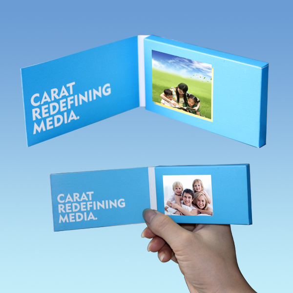 Promotional 2.4 inch TFT video business card lcd greeting card