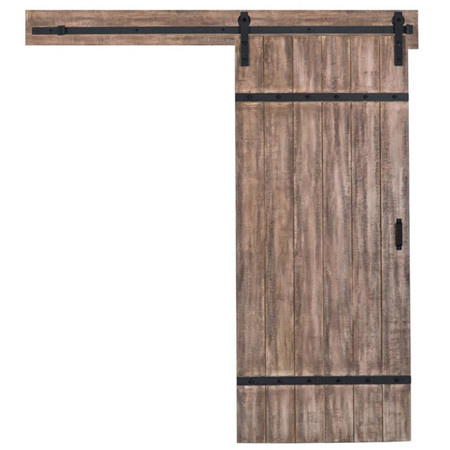 Hanging Sliding Barn Door - Stained Finished Door