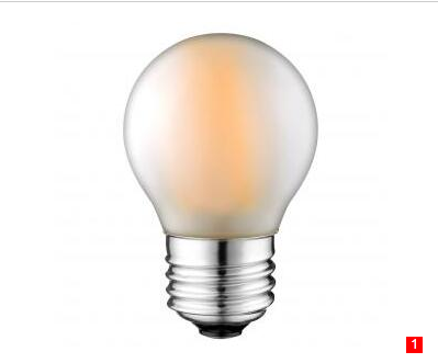 G45 2W 4W 230V LED Filament bulbs Frosted E27 B22