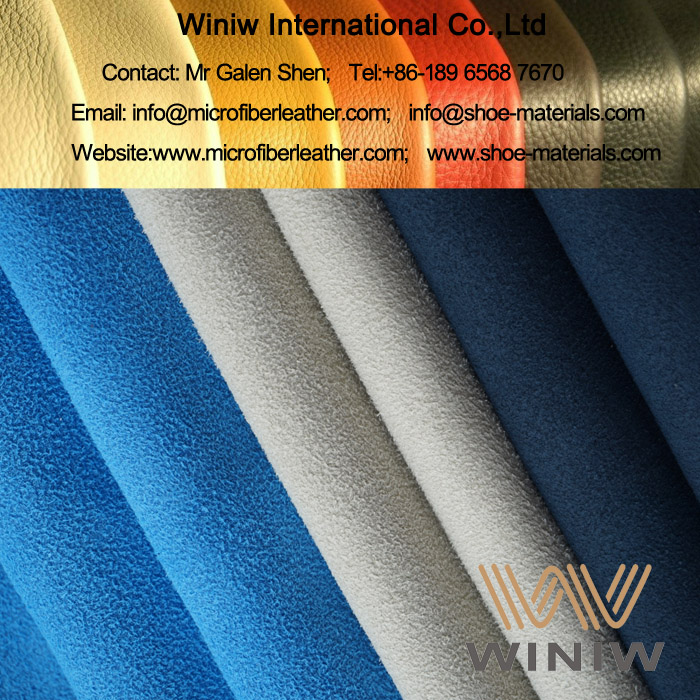 high quality faux suede leather fabric for shoes