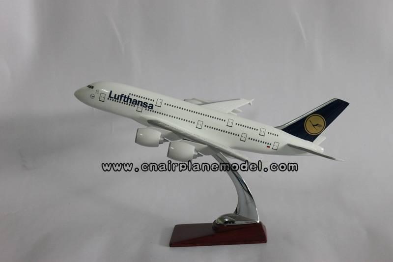 resin airplane model Airbus380 Lufthansa 49cm