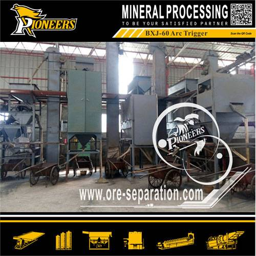 Beach heavy mineral sand separating machine electrostatic separator