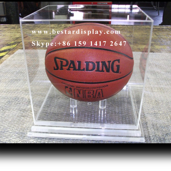 China factory sale Plexiglass PMMA acrylic basketball display case