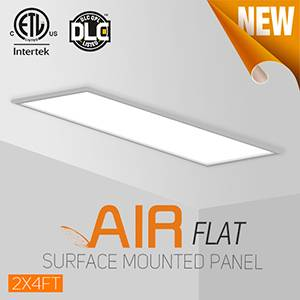 OKT Lighting only 3mm Gap Between The Surface Mounted LED Flat Panel And Dry Ceiling