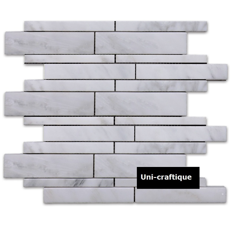 Strip pattern marble mosaic tiles