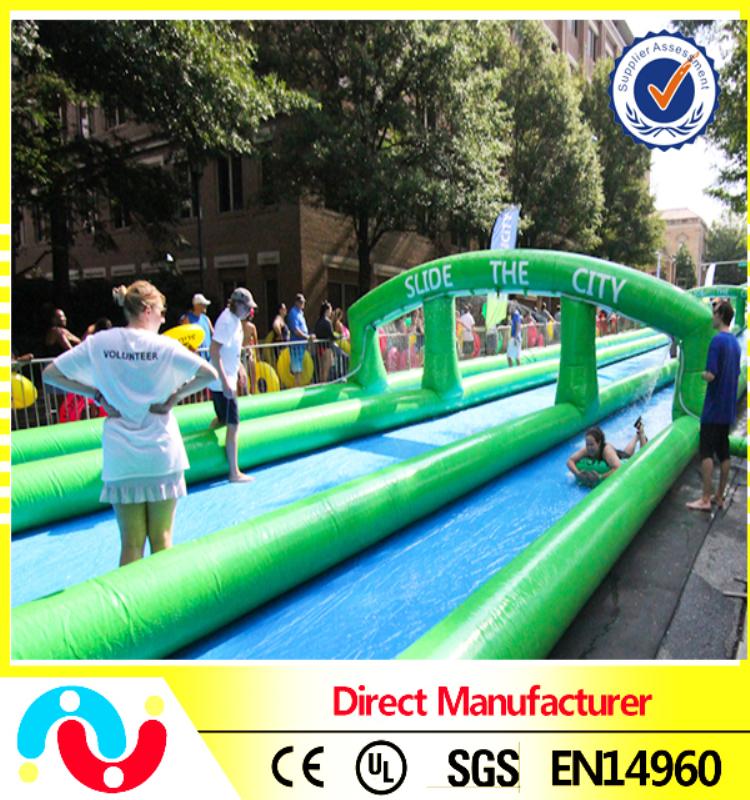 Three Lanes slip n slide inflatable slide the city