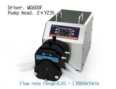 industrial peristaltic pump with flow rate:0.01-13L/min
