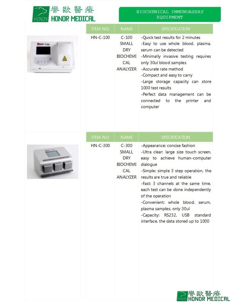 DRY BIOCHEMICAL ANALYZER