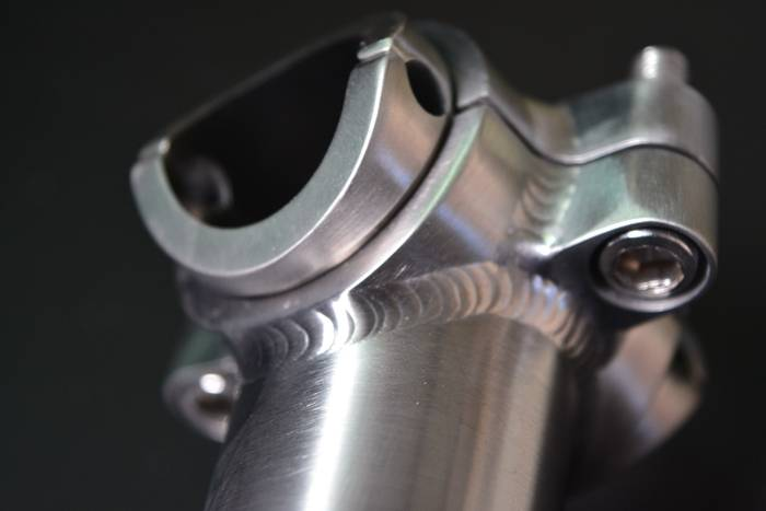 Sample stock Gr9/Ti3al2.5v adjustable titanium bike stem