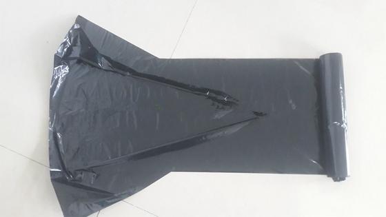HDPE/LDPE heavy duty C fold garbage bags on rolls