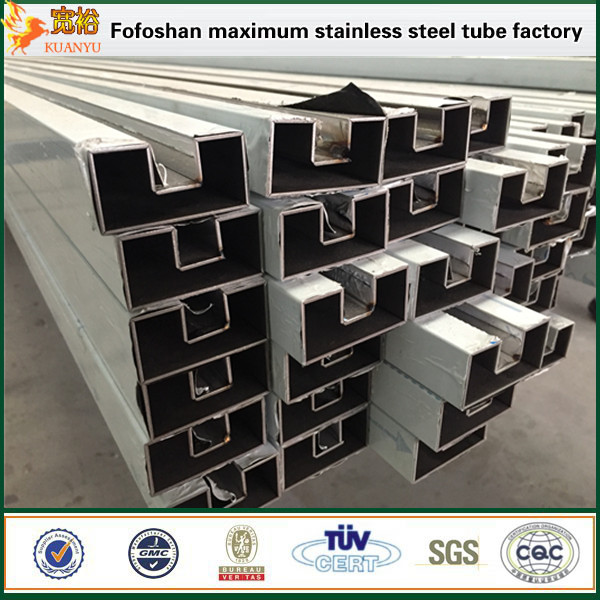 Factory price stainless steel square pipe 316 slotted tubes