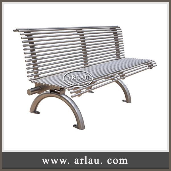 Arlau Site furniture factory,304 stainless steel benches, 316 stainless steel park benches
