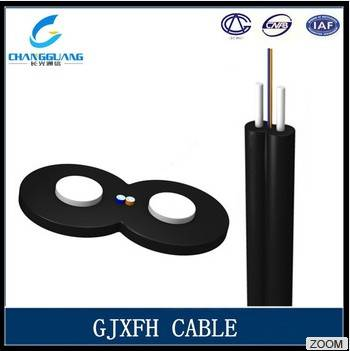 China Supplier Bow-Type Drop Indoor Fiber Optic Cable GJXFH/Gjxh Lighting Plastic Optical Fiber Cabl