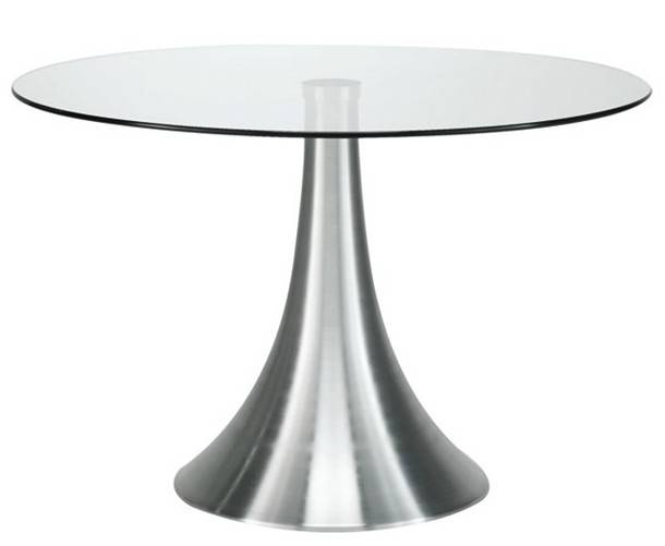Round Dining Rable with Tempered Glass